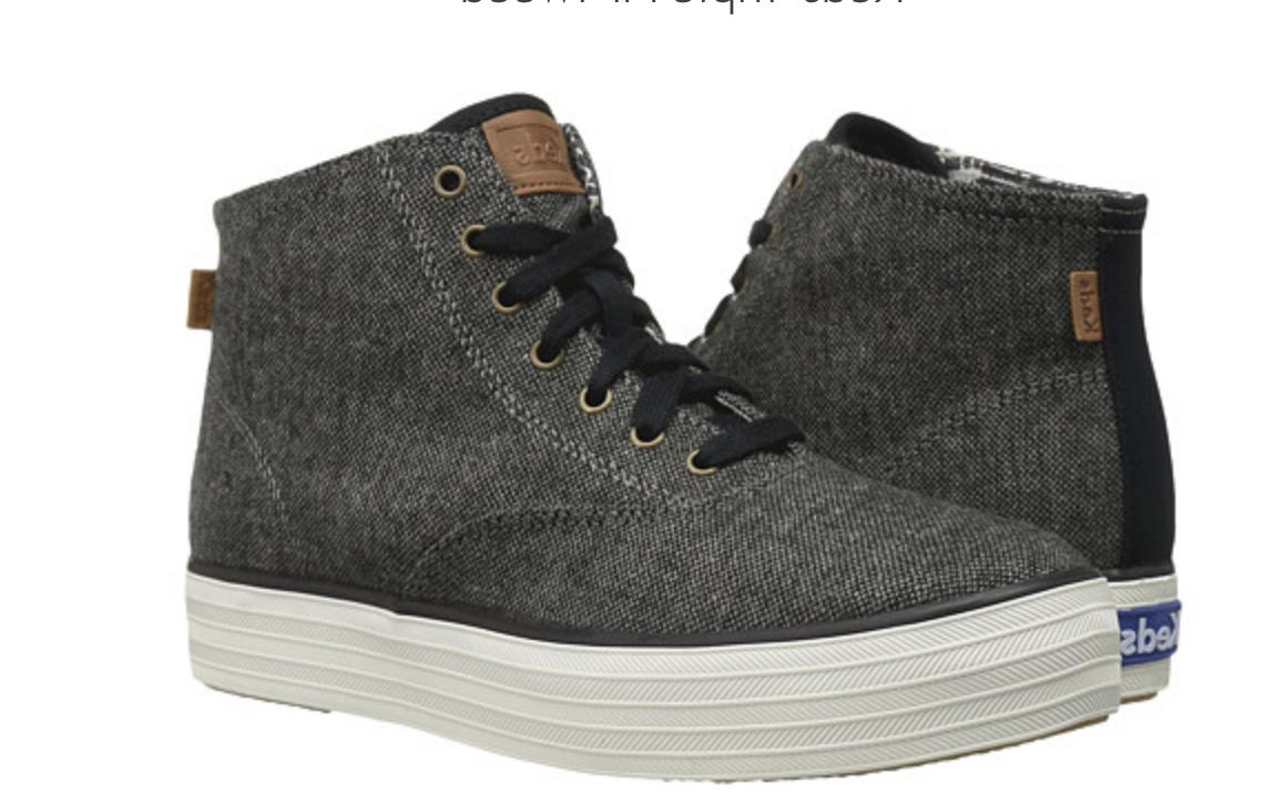 NEW KEDS HI TWEED GRAY HIGH TOP SNEAKERS/ SHOES WOMENS 6 FRE