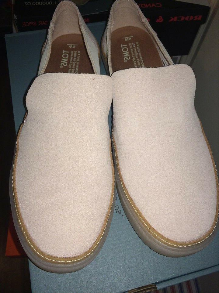 New in box Suede Slip Sneakers Womens Blush birch sz