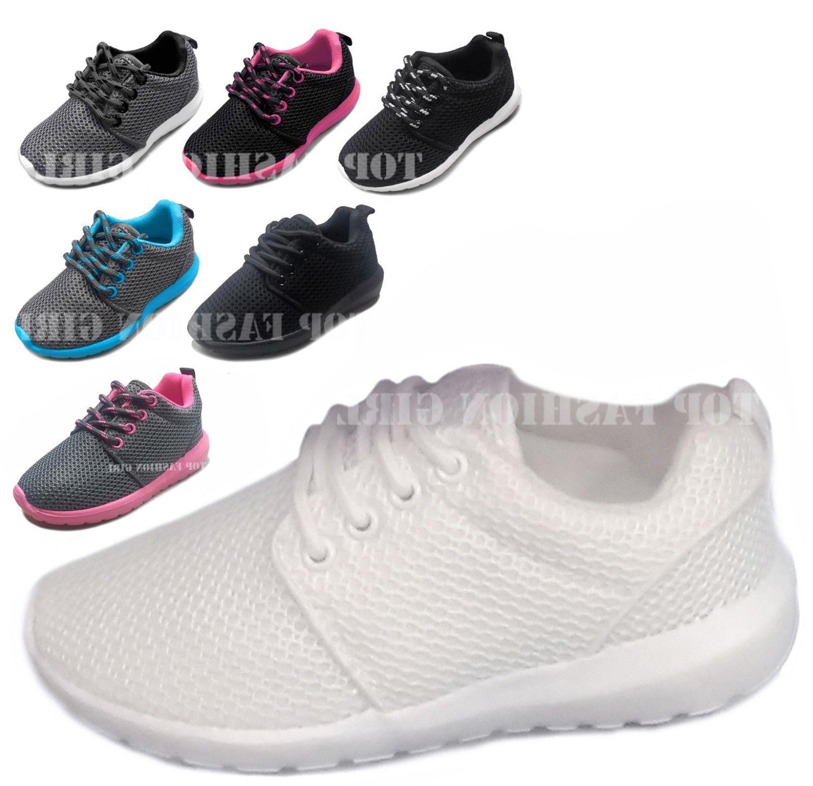 new kids boys girls mesh sneaker lace