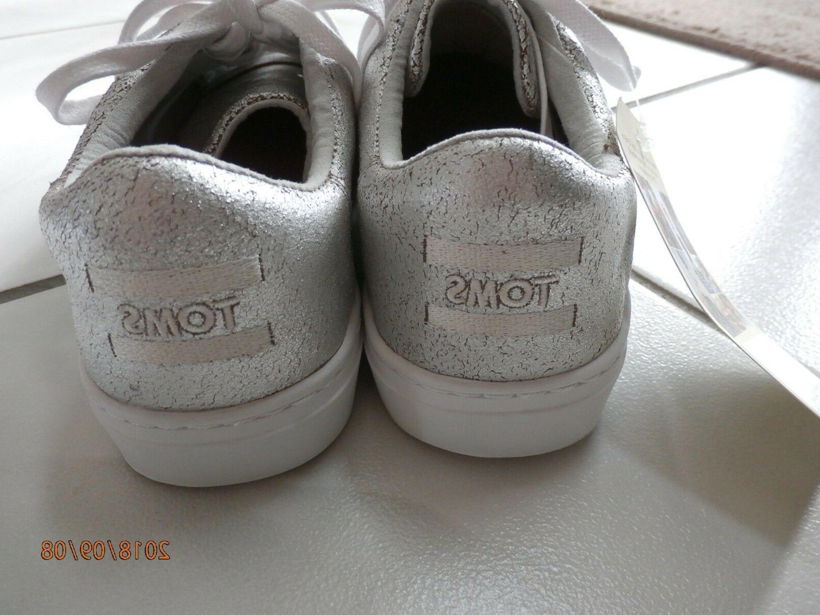 NEW Toms Tennis Shoes Metallic Size 7