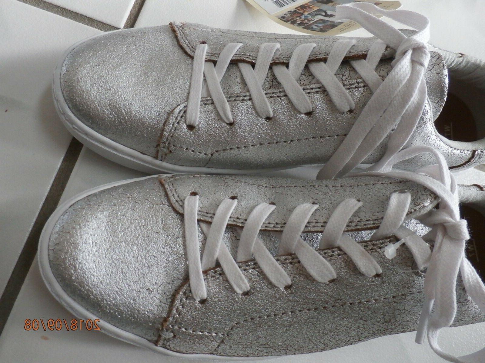 NEW Toms Lenox Sneaker Tennis Shoes Metallic Size New
