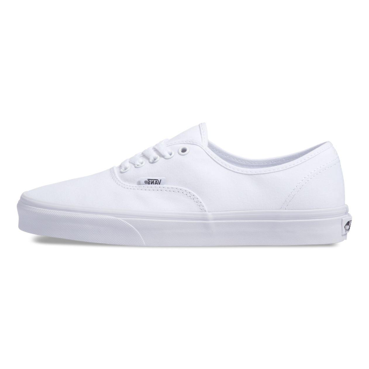New Women Vans New Authentic White Canvas Shoes
