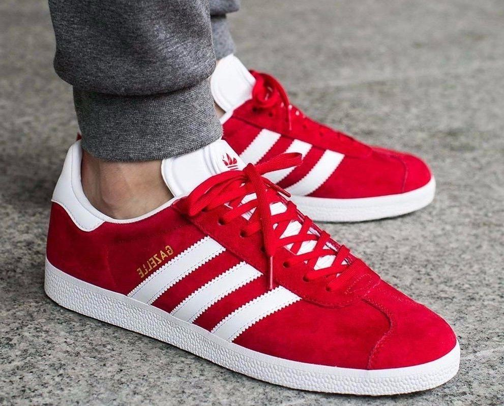 new originals gazelle casual sneakers mens red