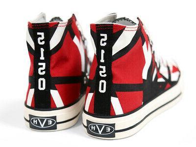 Official EVH Red High Top Sneakers Eddie Van Halen ALMOST GO
