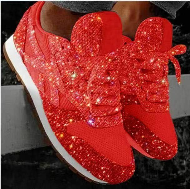 New Women's Glitter Lace Up Fashion