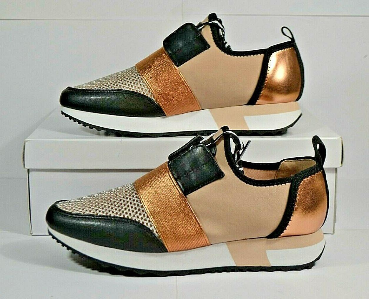 nib womens antics rose gold mesh sneakers