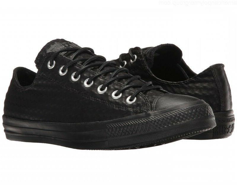 NWOB Converse All Star Craft Leather Ox Sneaker Black Sz Wom