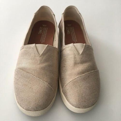 NWOT Woven Rose Gold Slip Shoes 9