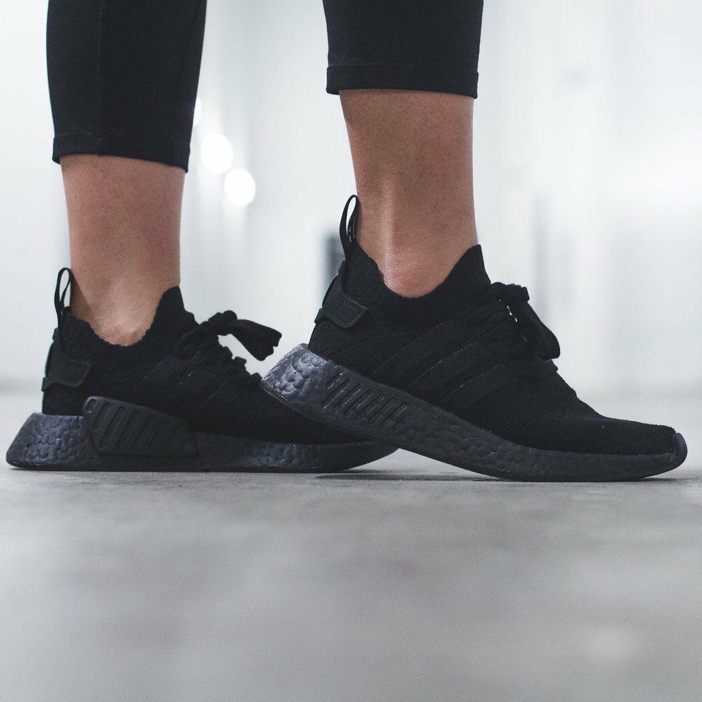 Adidas Originals NMD R2 Triple Black Shoes Womens Adidas Boo