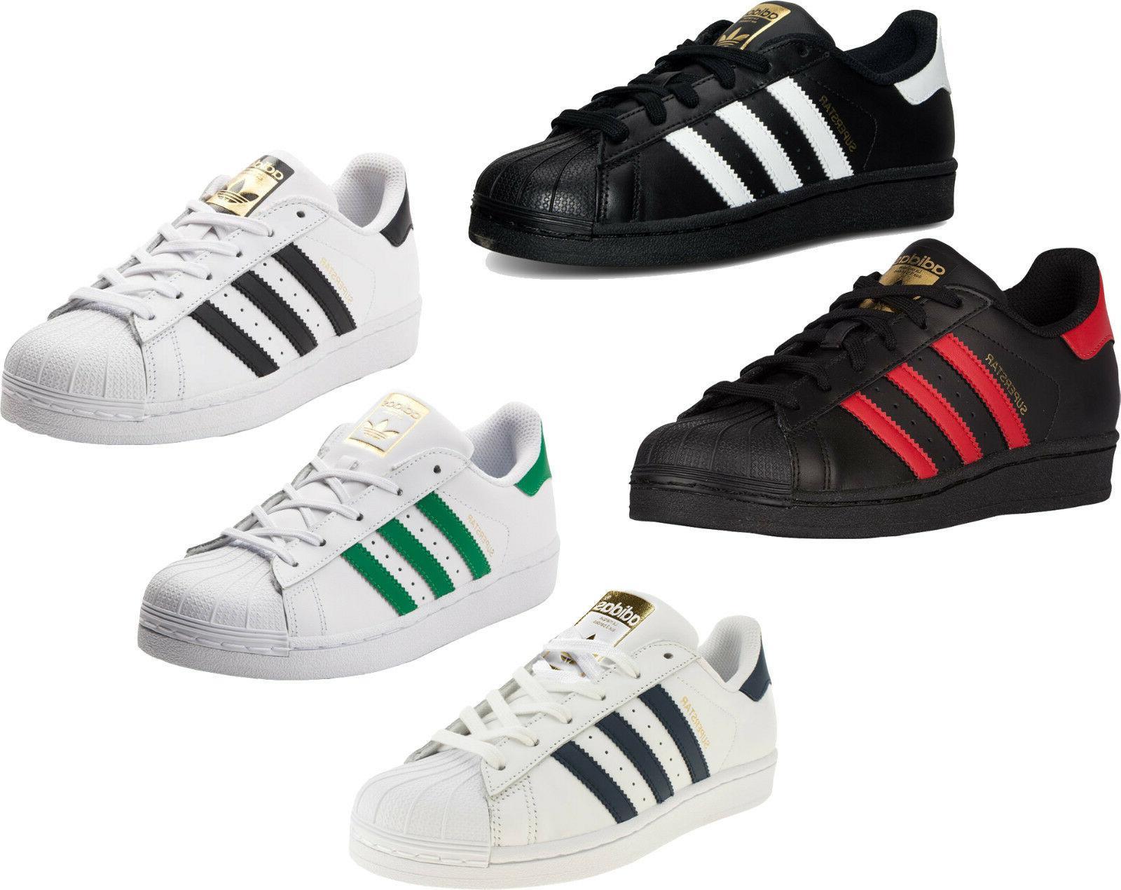 Adidas Originals Superstar J Shoes Kids Sneakers White Black