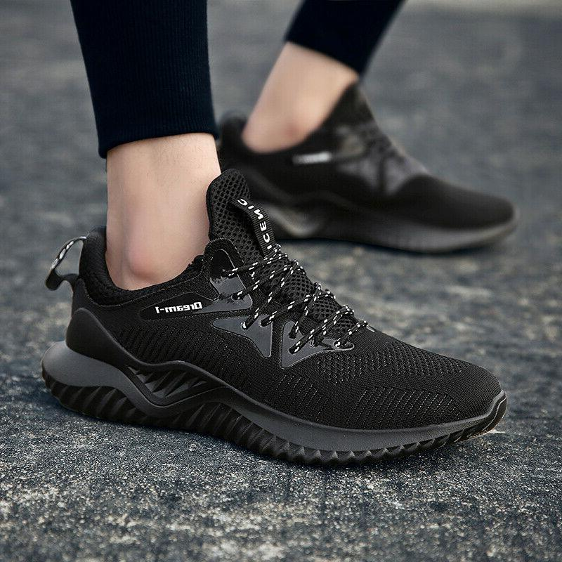men s casual walking trainers sneakers breathable