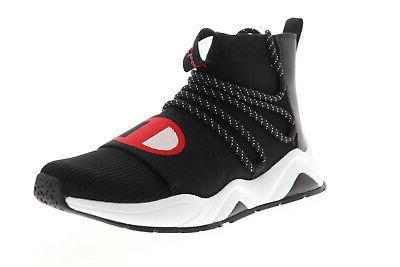rally hype mid cp100172m mens black canvas