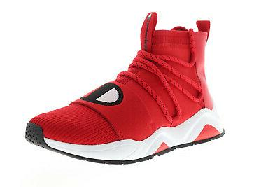 rally hype mid cp100175m mens red canvas