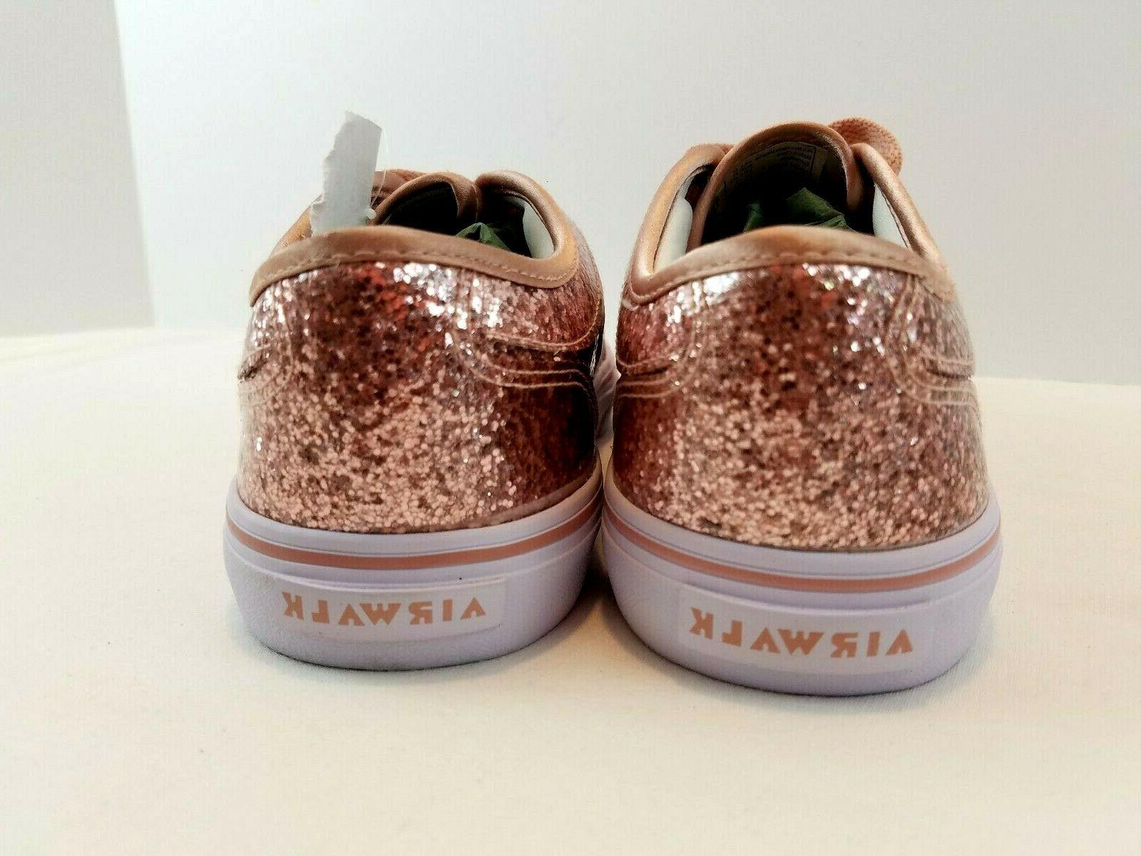 Airwalk Rieder Rose Boat Sneaker Glitter Casual 4.5