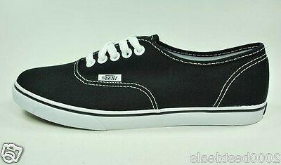 Vans Shoes Authentic Lo Pro Canvas Women Men Black True Whit