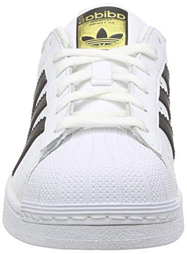 adidas Originals Superstar J Casual Basketball , White/Black/White, 4 US Big