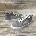TOMS Camila High Sneaker Gray Suede Textured Woven Women's 8
