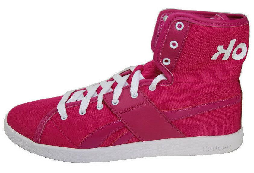 Reebok Top Down Women's Pink Canvas & Leather High Top Conve