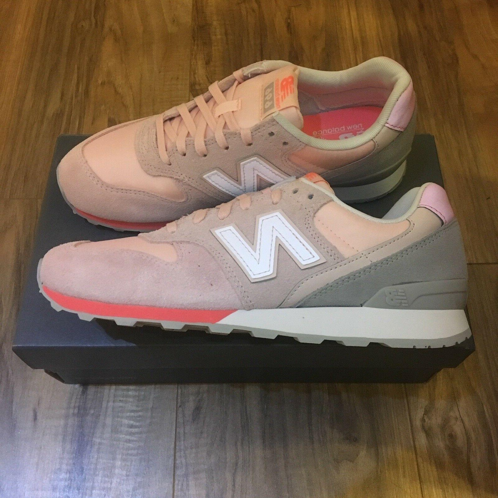NEW BALANCE WL696STG Classics Lifestyle Retro Sneakers Coral