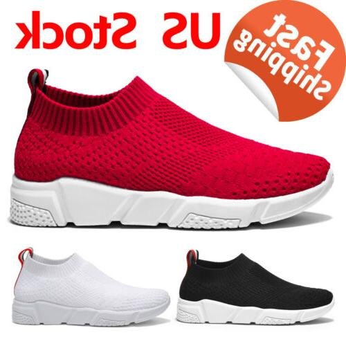Women's Casual Athletic Sport Sock Shoes On Sneakers Ship