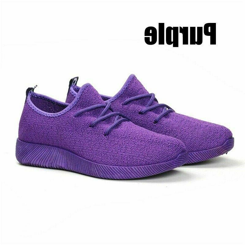 Women Flat Walking Breathable-Mesh tennis Shoes