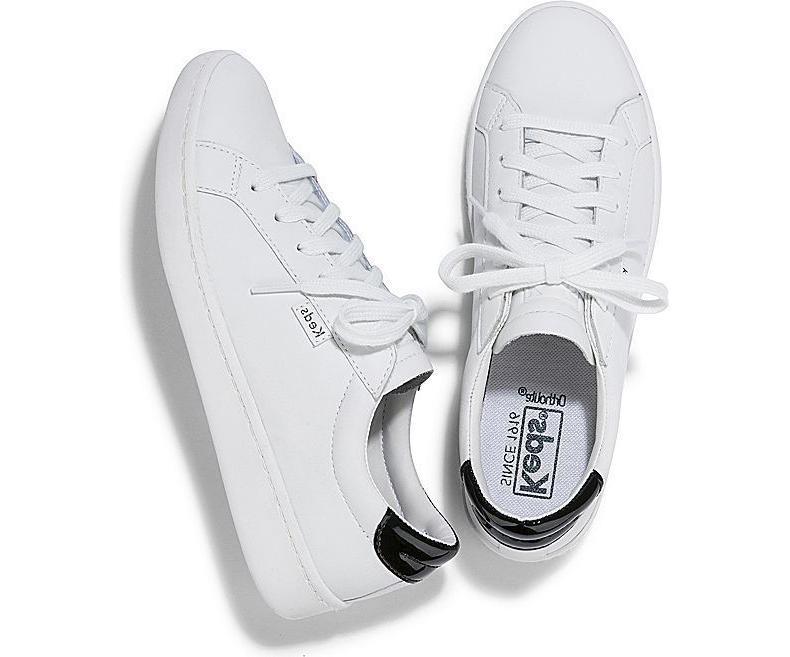 Keds Women's Tennis Shoe White/Black Pick A Size MSRP $65