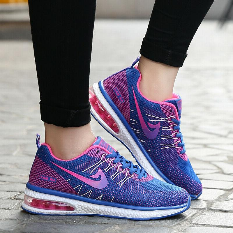 Women's Athletic Tennis Shoes Flyknit Sneakers Running Shoes