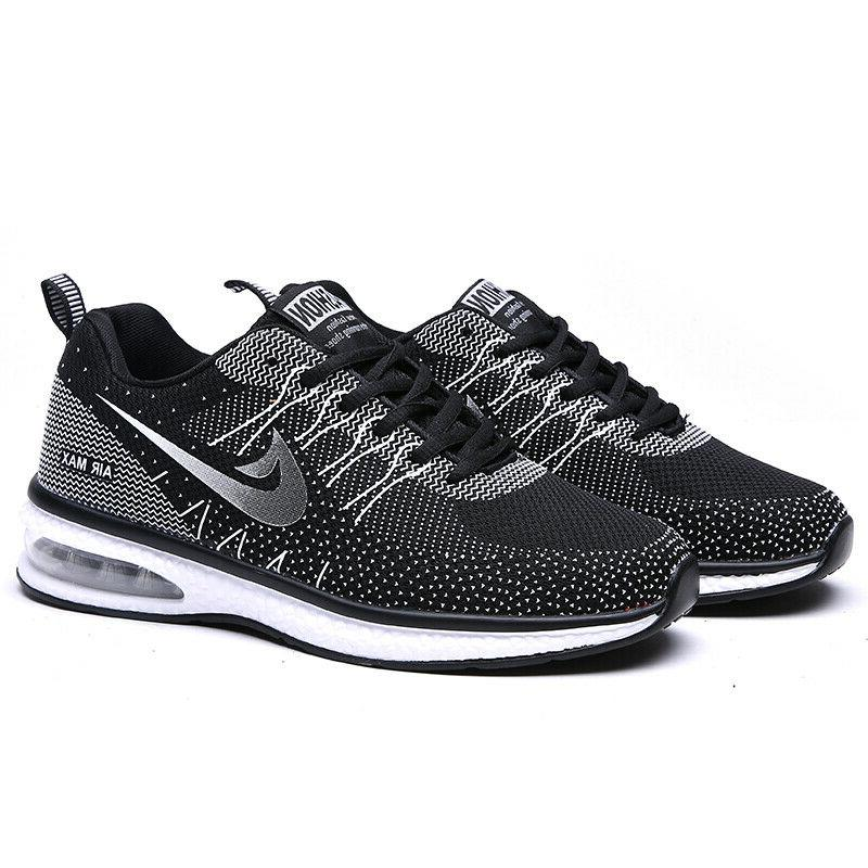 Women's Tennis Shoes Flyknit Sneakers Air Cushion Running