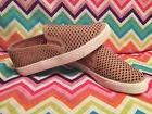 Soda Women's Perforated Slip On Sneakers Casual Shoes Size 6