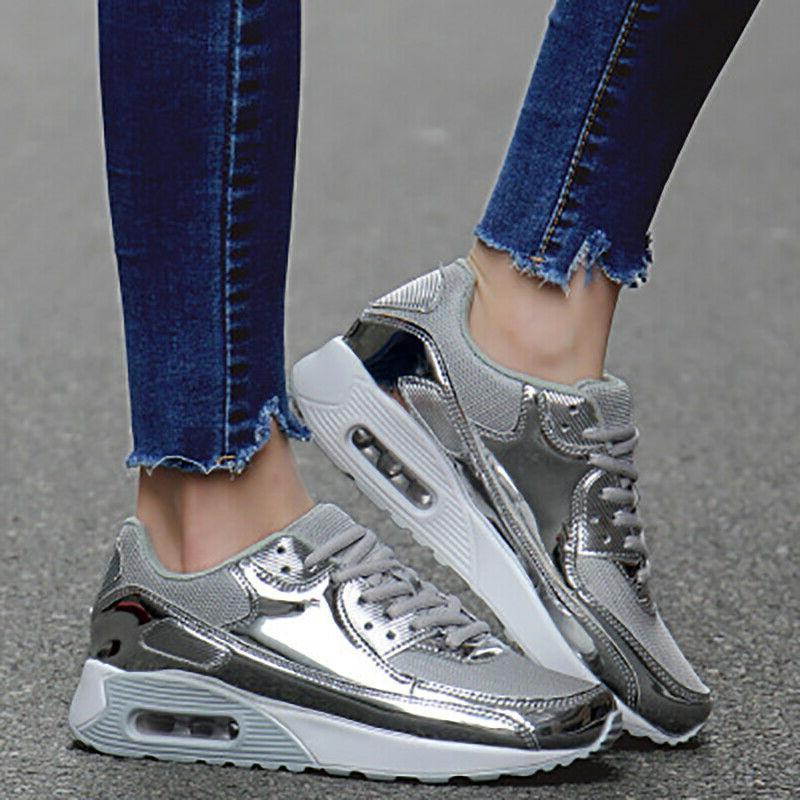 Women's Sneakers Tennis Shoe Bling Sequin Running