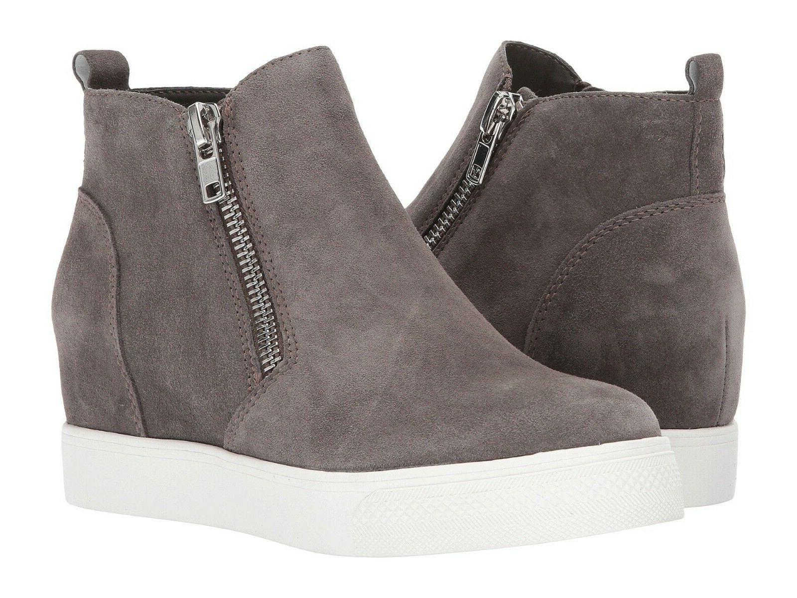 women s wedgie sneaker grey suede