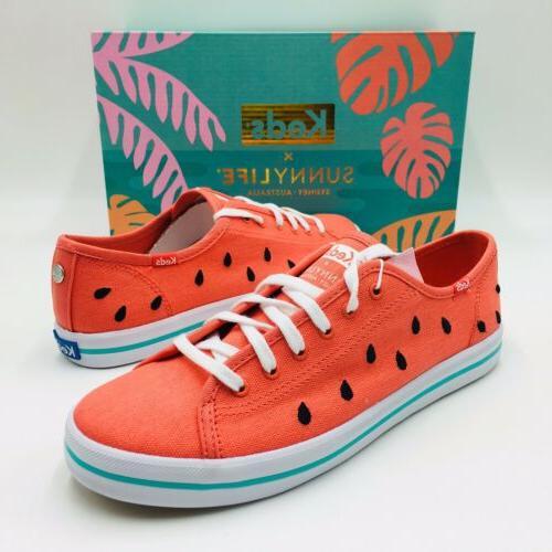 Keds Women's Keds SUNNYLIFE Watermelon Canvas Sneakers
