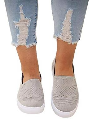 womens casual fashion sneaker slip on knit
