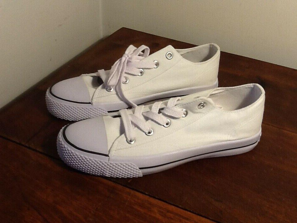 NWOB Airwalk 9M Legacee White Lace-Up Sneakers Free Ship