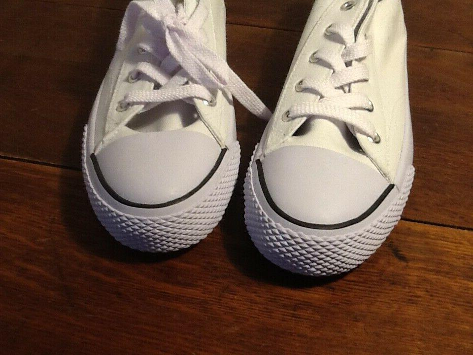 NWOB Airwalk Legacee White Canvas Lace-Up Sneakers Shoes