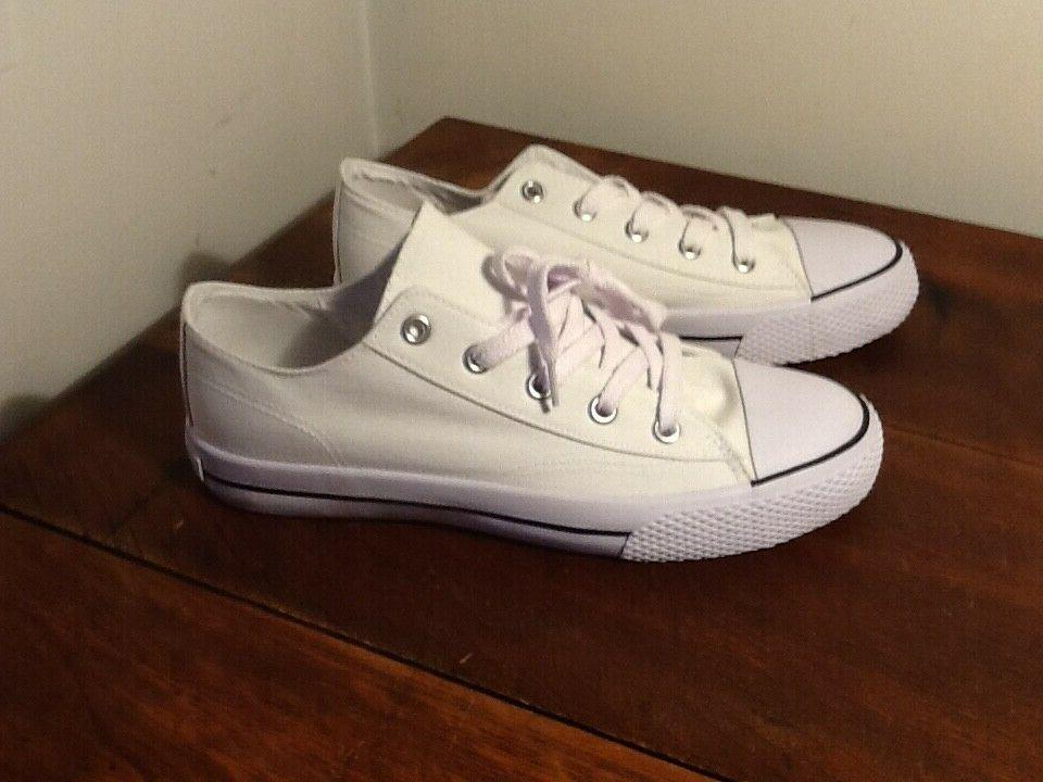 womens legacee white canvas lace up sneakers