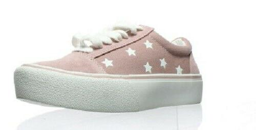 womens pink suede fashion sneaker size 6