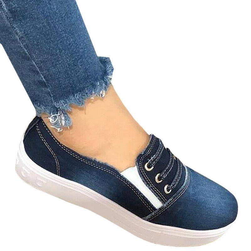 Women Slip Denim Loafers Casual Shoe