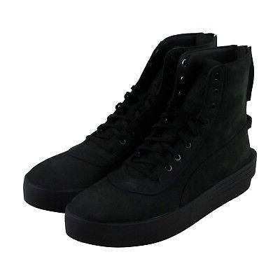 Puma Xo Parallel Mens Black Leather High Top Lace Up Sneaker
