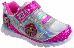 L.O.L Surprise Girls Sneakers, Light Up Athletic Shoe, Pink