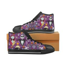 Lace Up Sneakers High Top Canvas Shoes for Women Nightmare B