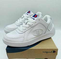 Champion Women's Super C Court Lace Up Sneakers - White