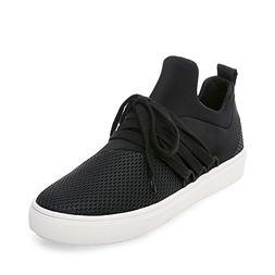 Steve Madden Women's Lancer Sneaker Black 5 M US