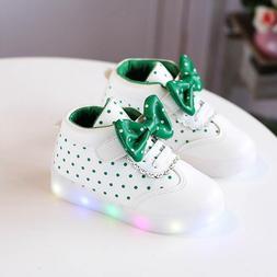 Led Shoes For Girls Toddler Girl Sneakers Sweet Children Whi