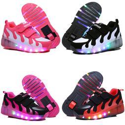 LED Shoes Sneakers for Kids Girls Boys Light Up Roller Skate