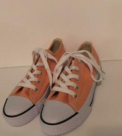 Airwalk Legacee Sneakers Girls 2.5 1/2 Orange Peach Tie Lace