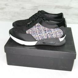 The Fix Lexi Sneakers Sz 8.5 Tweed Black Jogger Fashion Shoe