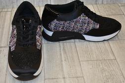 The Fix Lexi Woven Fashion Sneakers, Women's Size 7.5, Black
