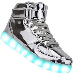 Odema Unisex LED Shoes High Top Light Up Sneakers for Women