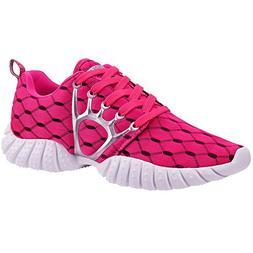 ALEADER Women's Lightweight Mesh Sport Running Shoes Red 9 D